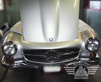 Mercedes 190 SL silber